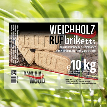 RUF softwood briquettes-