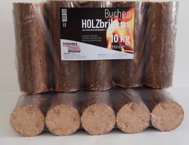 Danubia Wood Buchenbriketts 90mm-Buchenbriketts 90mm
